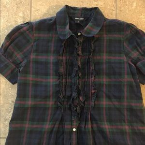 Girls' Ralph Lauren Classic Plaid Button Shirt